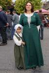 A mother and daughter dressed in English Civil War Costume