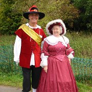 Alan Rose and Sue Jones in English Civil War costume