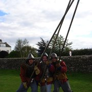 Pikemen of The Sealed Knot re-enacting the 1646 Battle of Stow