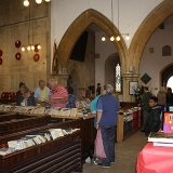 Books for sale inside St Edward's Church