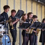 The Cotswold School's jazz band 'Back in Black' entertaining the crowd
