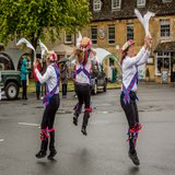 Morris dancers warm the crowd up