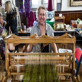 Weaving demonstration in St. Edward's Hall