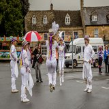 The Ducklington Morris Dancers start their 'Day of Dancing'