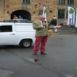 Town Mayor, Ben Eddolls opens the Festival